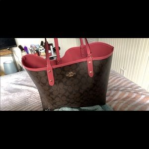 Authentic coach tote reversible